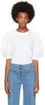 Chloé White Puff Sleeve T-Shirt