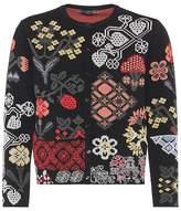 Alexander McQueen Floral silk-blend cardigan