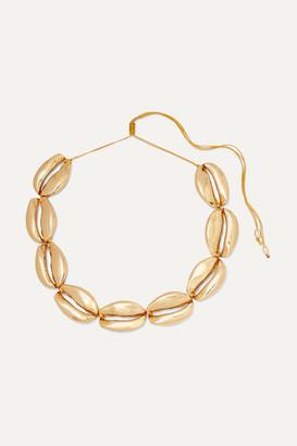 Puka Tohum - Mega Gold-plated Necklace - one size