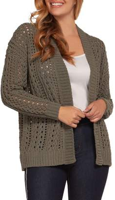 Dex Cable-Knit Open Cardigan