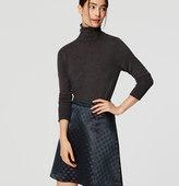 LOFT Shimmer Floral Jacquard Skirt