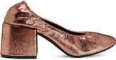 MM6 MAISON MARGIELA Metallic Textured-leather Pumps - Copper