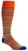 Daniel Cremieux Mercerized Thin Stripe Over-the-Calf Dress Socks