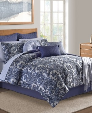 Sunham Hendel Indigo Queen Comforter Set Bedding