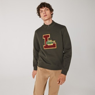 Lacoste Men's Crew Neck Badge Fleece Sweatshirt