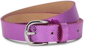 Isabel Marant Zap snake-effect leather belt