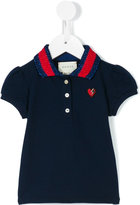 Gucci Kids - heart motif polo shirt - kids - Cotton/Spandex/Elastane/Viscose/Metallic Fibre - 12-18 mth