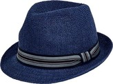 San Diego Hat Company Striped Grosgrain Knitted Paper Fedora PBF7327 (Men's)