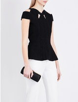 Roland Mouret Goldleigh cutout knitted top