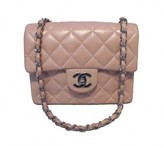 Chanel very good (VG Rose Pink Leather Mini Classic Flap Bag