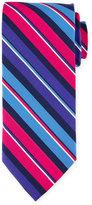 Peter Millar Striped Print Silk Tie, Newport