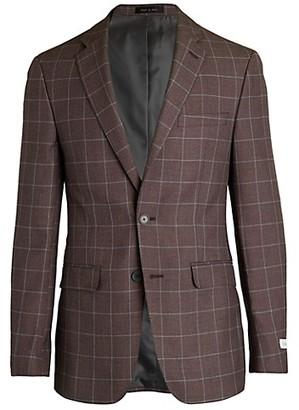 Calvin Klein Slim-Fit Windowpane Jacket