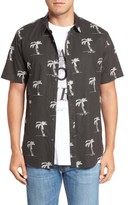 Billabong Men's X Warhol Flowers Print Shirt