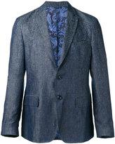 Etro tonal print blazer - men - Viscose/Cupro/Linen/Flax - 52