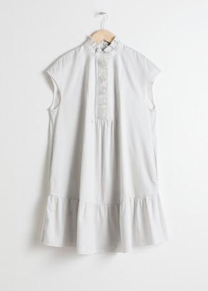 And other stories Ruffle Bib Shirt Dress