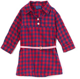 Sweet & Soft Burgundy Plaid Belted Dress - Infant & Toddler