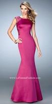 La Femme Rhinestone Keyhole Mermaid Prom Dress
