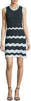 M Missoni Sleeveless Scoop-Neck Zigzag Dress, Black