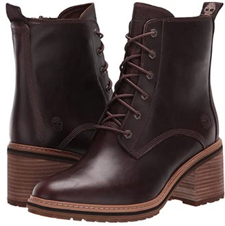 Timberland Sienna High Lace-Up Waterproof Boot (Dark Brown Full Grain Leather) Women's Boots
