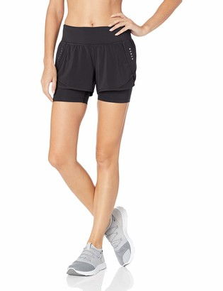 Core 10 Women's Standard Knit Waistband Run Short with Built-in Compression