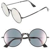 Le Specs Women's 'Poolside Punk' 53Mm Retro Sunglasses - Brushed Gold/ Khaki Mono