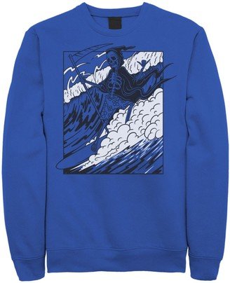 Licensed Character Men's Grim Reaper Riding The Wave Poster Fleece