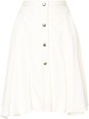 Giambattista Valli asymmetric A-line skirt