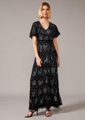 Phase Eight Clarabelle Sequin Embelished Maxi Dress