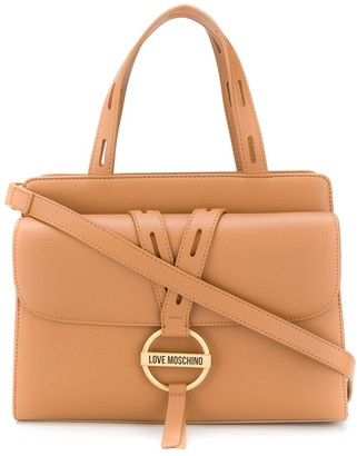 Love Moschino Round Buckle Tote Bag