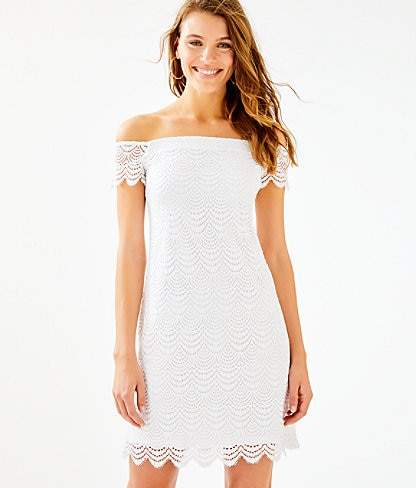 f15ae6a725f Lilly Pulitzer Shoulder Dress - ShopStyle