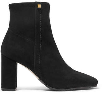 Stuart Weitzman Solo Stretch-suede Ankle Boots - Black