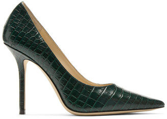 Jimmy Choo Green Croc Love 100 Heels
