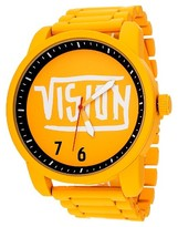 Vision Street Wear Men's Analog Watch - Yellow