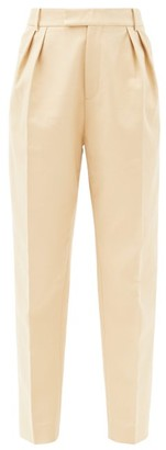 KHAITE Magdeline High-rise Cotton Trousers - Camel
