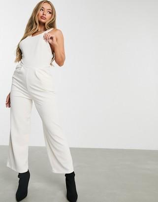 ASOS DESIGN x back corduroy overalls in winter white