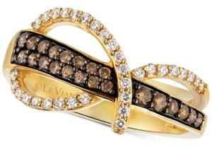 LeVian Le Vian Chocolatier Diamond Statement Ring (1/2 ct. t.w.) in 14k Gold