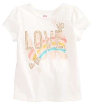 Epic Threads Little Girls Rainbow Love T-Shirt, Created for Macy's