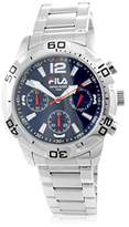 Fila Men's Quartz Watch with Black Dial Analogue Display Quartz Stainless Steel 211815