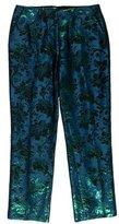 Miu Miu Cropped Brocade Pants