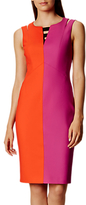 Karen Millen Two Tone Pencil Dress, Pink/Multi