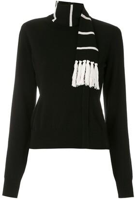 Dolce & Gabbana Cashmere Scarf Detail Jumper