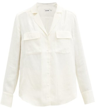 Cefinn Spencer Camouflage-jacquard Shirt - Cream