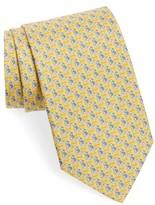 Salvatore Ferragamo Men's Puffin & Giraffe Silk Tie