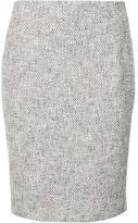 Akris Punto patterned pencil skirt - women - Cotton - 8