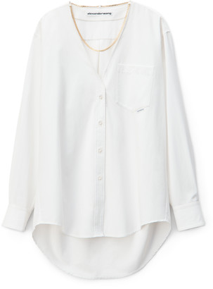 Collection V-NECK CHAIN BLOUSE