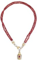 Judith Ripka Tourmaline Pendant & Bead Necklace