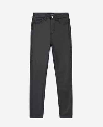The Kooples Black leather-effect jeans