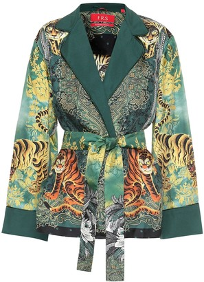 F.R.S For Restless Sleepers Giocasta printed silk jacket