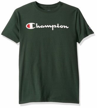 Champion Men's Classic Jersey T-Shirt White/Navy Script XX-Large