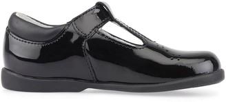 Start Rite Start-rite Younger Girls Swirl T-Bar School Shoes - Black Patent